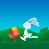 小的兔子在跑的种族介入 向量例证