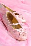 小的公主鞋子 库存图片