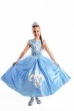 小的公主狂欢节服装 库存图片