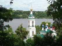小的农村教会 库存照片