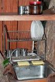 小的厨房 免版税库存图片