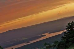 小的吉恩河谷和蓝色Mountain湖 免版税库存图片