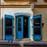 小的咖啡馆 免版税库存图片