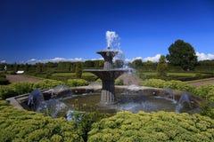 小的喷泉在康斯坦丁宫殿的公园 免版税库存图片