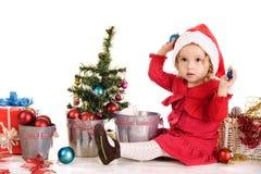小的圣诞老人辅助工 库存照片