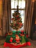 小的圣诞节假日树 库存图片