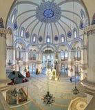 小的圣索非亚大教堂的内部在伊斯坦布尔,土耳其 库存照片