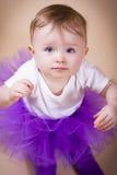 小的女婴佩带的芭蕾舞短裙 库存图片