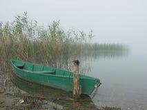 小的小船 免版税库存照片