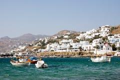 小的希腊城镇 免版税库存图片