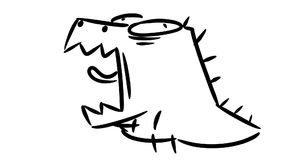 小的恐龙打呵欠 逗人喜爱的小的迪诺吼声 影视素材