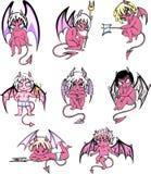小的恶魔动画片 图库摄影