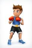 小的拳击手象 免版税库存照片