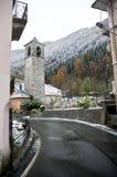 小的教会村庄 免版税库存照片