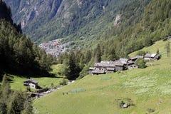 小的村庄 免版税库存图片