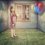 小的梦想。 免版税图库摄影