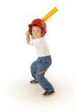 小的棒球运动员 库存照片