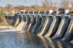 小的水坝 库存图片