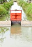 小的水闸 免版税库存照片