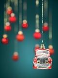小的汽车圣诞节装饰 库存照片