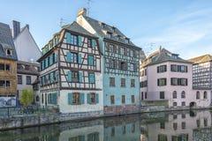 小的法国史特拉斯堡,法国 库存照片