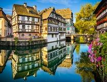 小的法国在史特拉斯堡,法国 库存图片