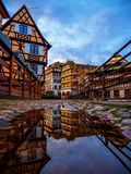 小的法国地区在史特拉斯堡 库存照片