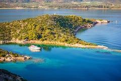 小的海岛,希腊 免版税图库摄影