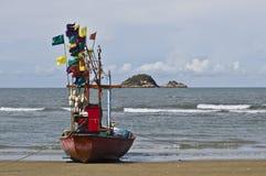 小的渔船 库存照片