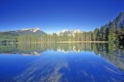 小的湖和锯齿山,爱达荷 免版税库存照片