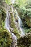 小的瀑布在森林Krushuna,保加利亚4里 免版税库存照片