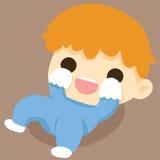 小的男婴愉快的微笑笑 库存例证