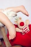 小的男婴脚 库存图片
