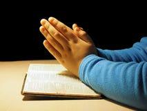 小的祷告 免版税库存照片