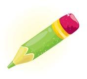 小的绿色铅笔 库存图片