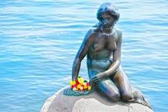 小的美人鱼哥本哈根丹麦 图库摄影