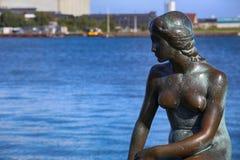 小的美人鱼哥本哈根,丹麦的雕塑 库存照片