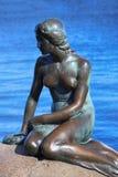 小的美人鱼哥本哈根,丹麦的雕塑 库存图片