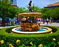 小的美人鱼喷泉 免版税图库摄影