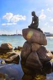 小的美人鱼在哥本哈根,丹麦 免版税库存图片