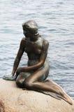 小的美人鱼,哥本哈根,丹麦 免版税库存照片