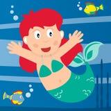 小的美人鱼 免版税库存照片