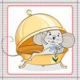 小的老鼠惊奇 库存图片