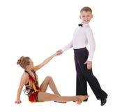 小的舞蹈家夫妇 库存图片