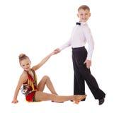 小的舞蹈家夫妇 库存照片