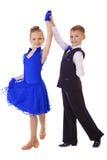 小的舞蹈家夫妇 免版税库存图片