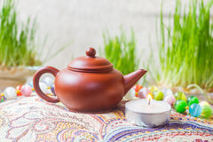 小的茶壶 免版税库存图片