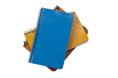 小的螺纹笔记本 免版税库存照片
