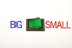 小的选择-大或 免版税库存图片