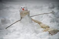 小的雪人 免版税库存图片
